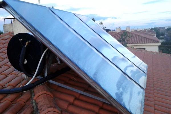 Instalación de un equipo de sistema solar térmico en Antequera